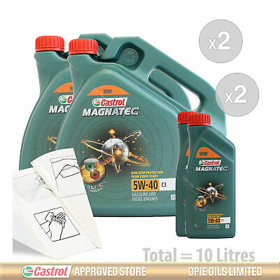 Engine Oil Service Kit: 10 litres of Castrol Magnatec 5W-40 C3