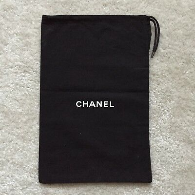 "CHANEL New Authentic Size 9"" x 13.5"", Black Dust Bag Cover Pouch"