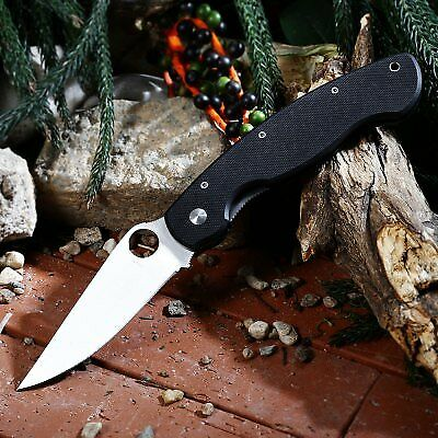 PA60 Liner Lock Folding Knife with G10 Handle-BLACK