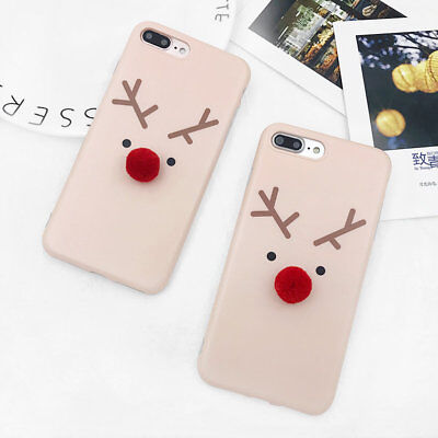 Luxury Christmas Cartoon Pattern Soft Gel Slim Case Cover for iPhone 7 6 6s Plus