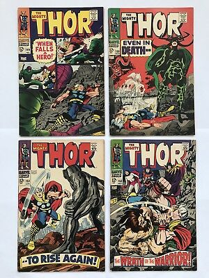 The Mighty Thor Lot Issues #149, 150, 151, 152 Marvel 1968 Hela Inhumans Wrecker