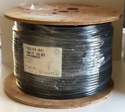 Belden 1523A RG-11/U 14awg BCCS 75 Ohm Coaxial CATV Antenna Cable Black 1000ft