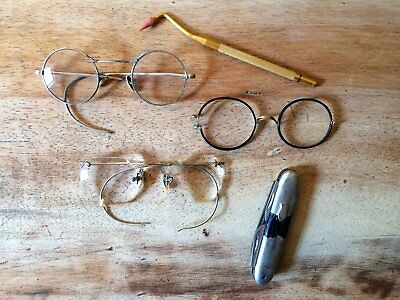 Antique Harry Potter Style Optical Eyeglasses with Dental Cleaner & Pocket Knife