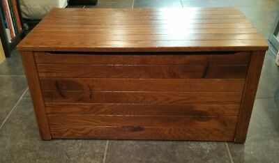 """Solid Oak Blanket/Foot of Bed Chest 34""""W X 18.5""""D X 17""""H"""