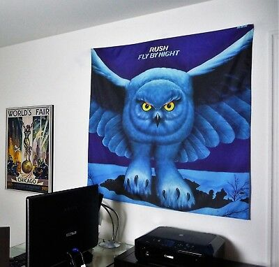 RUSH rock band Fly by Night HUGE 4X4 BANNER poster tapestry album cd wall decor