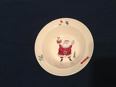Very Rare Portmeirion Rob Scotton 'Special Delivery' Christmas Santa Bowl