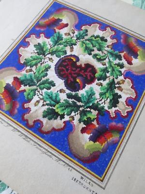 Antique Hand Painted Berlin Woolwork Embroidery Chart- L.W. Wittich