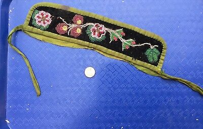 Vintage ARMBAND Beaded Authentic Native American * Nice!