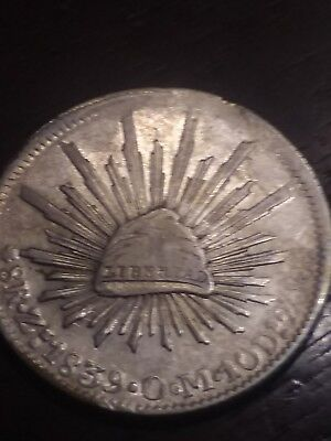 Mexico 1839 ZsOM 8 Reales - Silver - Nice Toning
