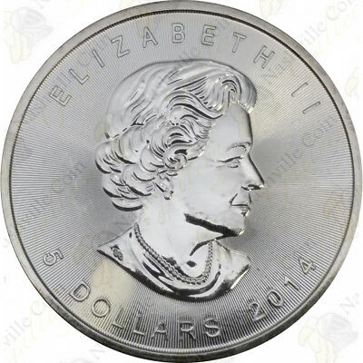 2014 Canadian Silver Maple Leaf — 1 Oz — Uncirculated — Sku #12026