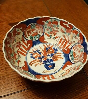 Antique Japanese Imari bowl lots of character