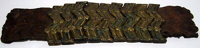 Lot of 10 pcs. Post medieval Silver Belt Mounts 16-18th,W/ Leather Cleaned # 967