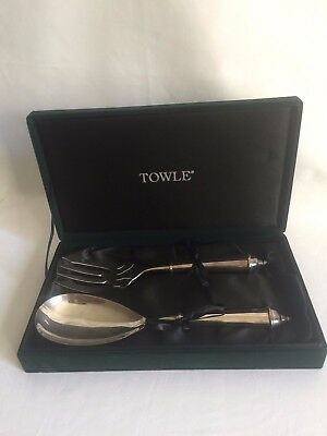 TOWLE-Salad-Serving-Fork-Spoon-Set original  in Perfect for Christmas, Wedding
