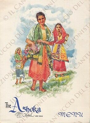 1966 The Ashoka Hotel New Delhi India *menu CEMC2