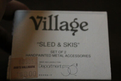 Village Department 56 Sled & Skis