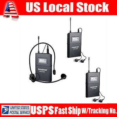 Takstar WTG-500 Wireless UHF Frequency 1xTransmitter+2x Receivers with Earphones