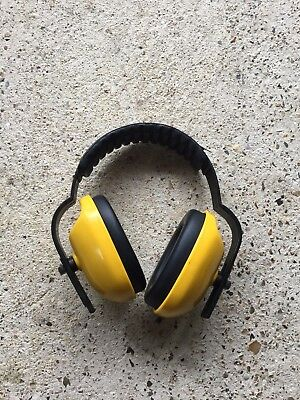 Childrens Ear Defenders Yellow with Padded Headband and Ear muffs