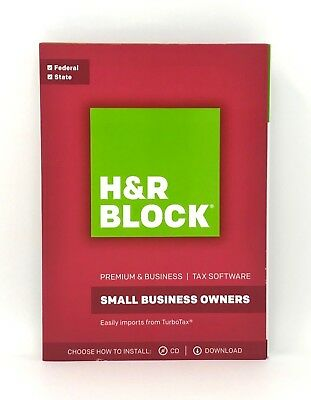 H&R Block Premium & Business 2017 Federal & State Tax Software for Windows / PC