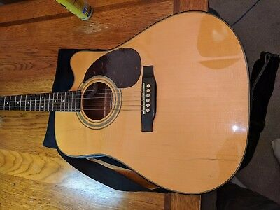 Acoustic Electric Guitar Sigma by Martin 6 string/ case Sounds and plays great.