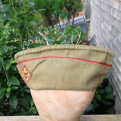 Vintage 1950s Boy Scouts of America Official BSA Self Conforming Hat Medium Size