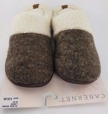 Dearfoam Grey Patterned Slippers  (Choose Size) NEW IN BOX