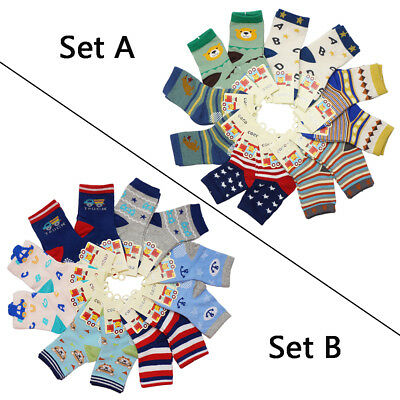 12 Pairs Baby Toddler Boy Mixed designs Assorted Colors Comfortable Cotton Socks