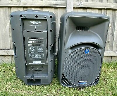 Mackie C300 Made In Italy Immaculate Condition PA DJ Speakers Sound Stage