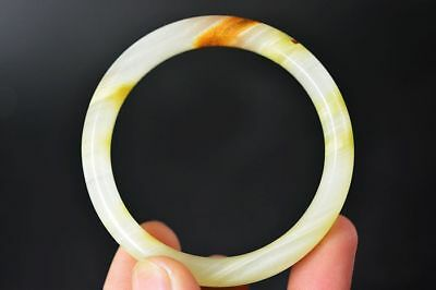 Excellent Chinese natural jade Carved beautiful bracelet bangle C81