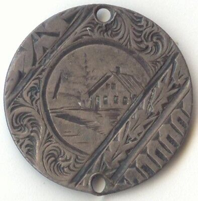 Love Token, Canada, Victoria Five Cent Silver, Pictorial, House