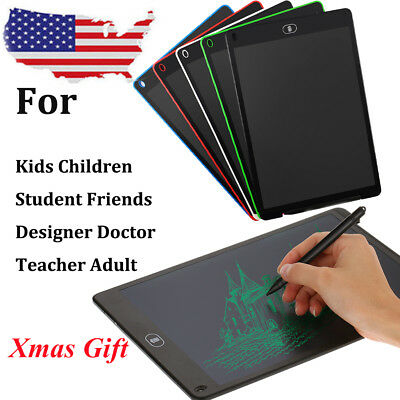 "12"" Shockproof LCD Writing Board Tablet Drawing Notepad Kids Child Student Gift"