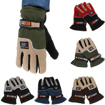 NEW Windproof Men Thermal Winter Warm Motorcycle Ski Snow Snowboard Gloves Mitte