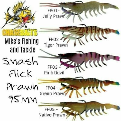 River2Sea Chasebaits Smash Flick Prawn 95mm Soft Plastic Lure