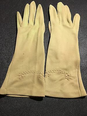 Vintage Green Women's Gloves Made In West Germany Rare
