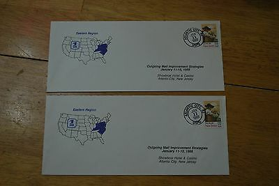 2 Showboat Hotel & Casino Atlantic City Outgoing Mail Strategies Envelopes