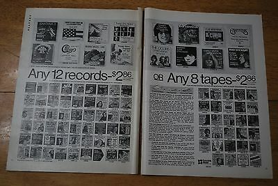 Columbia House 12 Records for $2.86 1972 Playboy Magazine ad - Excellent