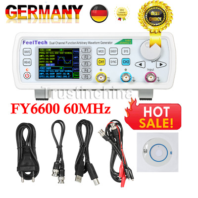New Dual-channel Arbitrary Waveform DDS Function Signal Generator FY6600 60MHZ