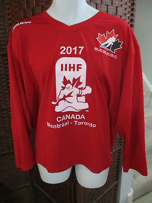 Bauer 2017 IIHF World Junior Hockey Championships Jersey Mens Medium Canada