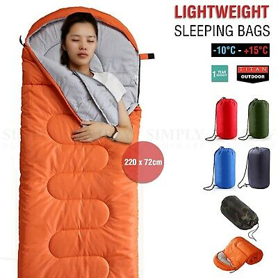 Sleeping Bag Single Outdoor Camping Compact Winter Sheet Sack Hiking Envelope