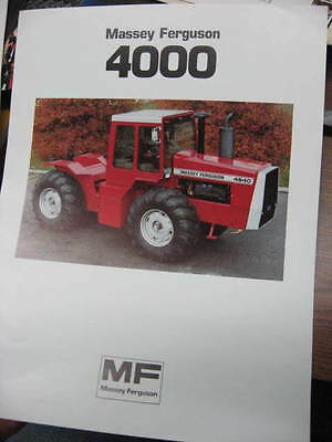 Massey Ferguson 4840 4800 4880 4900  brochure, 2 pages, very nice, hard to find