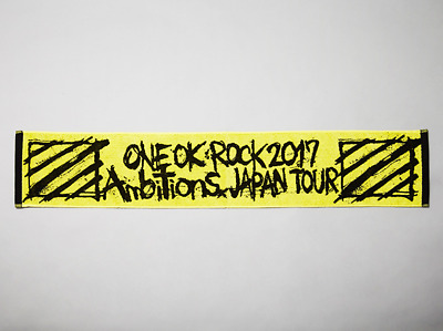 ONE OK ROCK 2017 Ambitions JAPAN TOUR Official Scarf Towel 7.9 x 43.3in Yellow