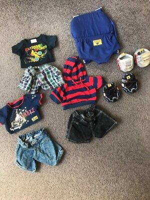 Build A Bear Boys Clothes Shoes And Backpack Carrier
