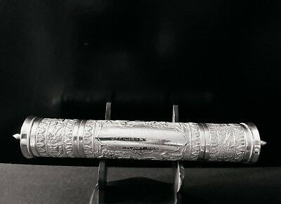 Chinese /india export silver  inscribed Vintage Scroll Case dated 1922 Unusual!!