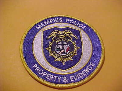 Memphis Tennessee Prop & Evid. Police Patch Shoulder Size New 3 1/2 X 3 1/2 In.