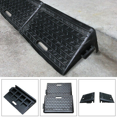 2PC Rubber Ramps Kerb Threshold Cars Caravans Wheelchair Mobility Access Pass