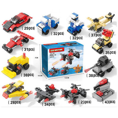 DIY Military Vehicle Armored Vehicles Building Block Sets Children Toys