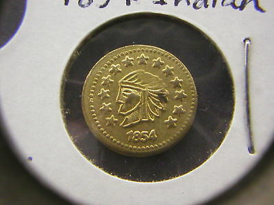 1854 Indian, 1853,1857 Liberty Head California Gold 1/2 Tokens/Coin: With a Bear