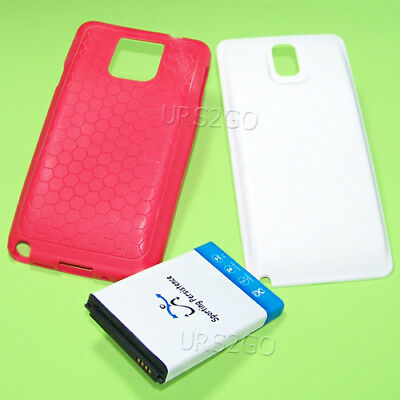 10300mA Extended Battery Cover Honeycomb Case for Samsung Galaxy Note 3 SM-N900V