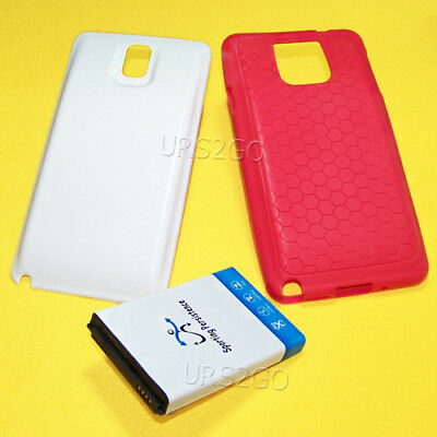 100% New Extended Battery Rear Cover TPU Red Case f Samsung Galaxy Note 3 N900R4