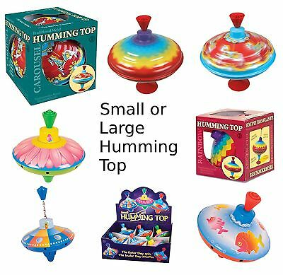 Classic Traditional Humming Spinning Top Baby Child Toddler Toy Carousel Rainbow