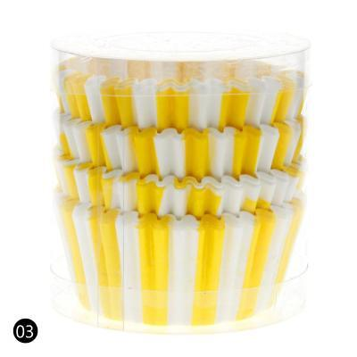 Yellow 100PCS Paper Cupcake Case Wrapper Muffin Liners Baking Cups QW